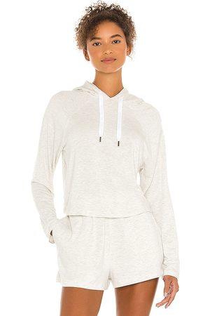 Calvin Klein Long Sleeve Hoodie in Ivory.