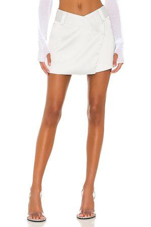 superdown Alana Mini Skirt in Light Grey.