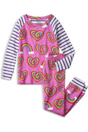 Hatley Girls Nightdresses & Shirts - Girls' Organic Cotton Rainbow Printed Pajama Set - Little Kid, Big Kid
