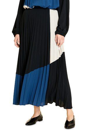Marina Rinaldi Women Maxi Skirts - Calypso Colorblock Accordion Pleated Maxi Skirt
