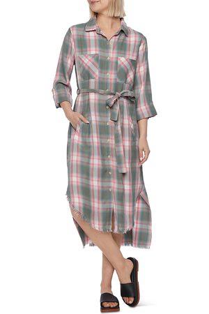 Billy T Plaid Midi Shirt Dress