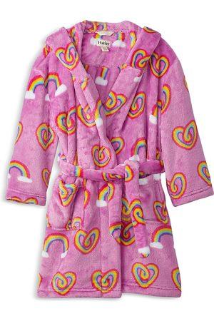 Hatley Girls Bathrobes - Girls' Rainbow Heart Robe - Little Kid, Big Kid