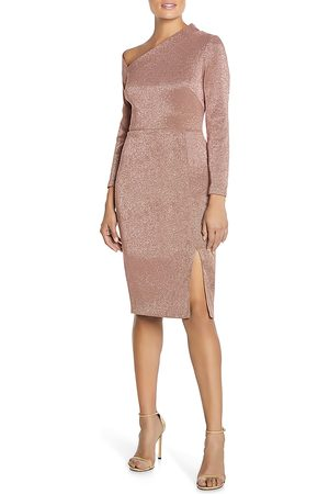 Aidan Mattox Women Asymmetrical Dresses - Metallic Asymmetric Cocktail Dress