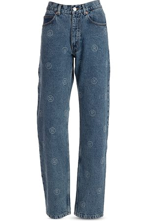 MARTINE ROSE Men Relaxed Fit - Relaxed Fit Registered Jeans in Denim