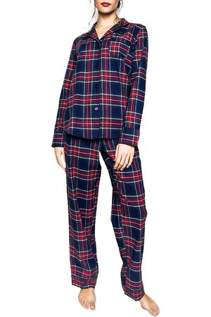 Petite Plume Women Nightdresses & Shirts - Windsor Tartan Flannel Pajama Set