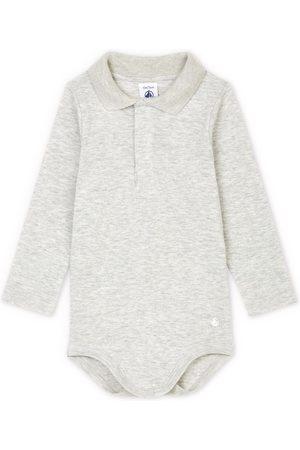 Petit Bateau Polo Baby Body - 3 months - Grey - Baby bodies