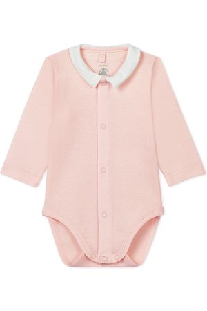Petit Bateau Button Up Polo Long Sleeve Body - 1 month - - Baby bodies