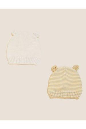 Hats - Kids' 2pk Animal Winter Hats (0-12 Mths)