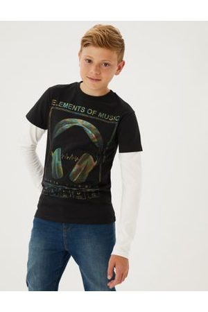 Boys Tops - Pure Cotton Holographic Top (6-16 Yrs)