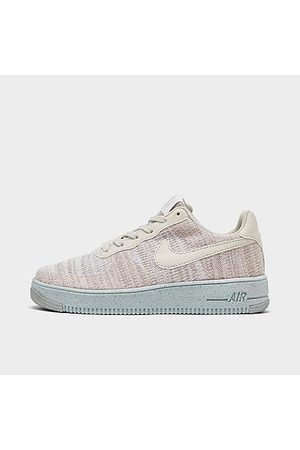 Nike Big Kids' Air Force 1 Crater Flyknit Casual Shoes in / Size 4.0