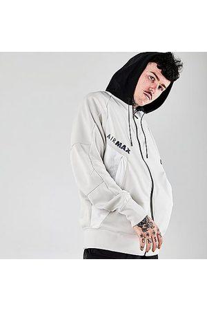 Nike Men's Air Max Full-Zip Hoodie in Off- /Light Bone Size X-Small 100% Polyester/Fleece