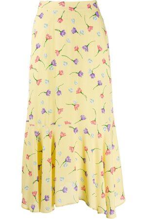 Markus Lupfer Floral print midi skirt