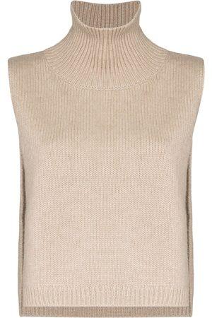 Lisa Yang Women Tops - Lowa bib-style knitted top - Neutrals