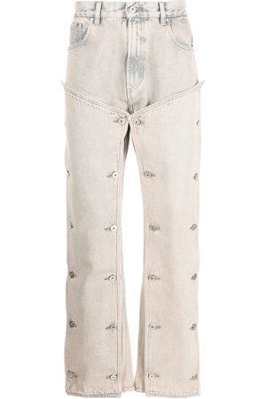 Y / PROJECT Men Straight - Button panel straight-leg jeans