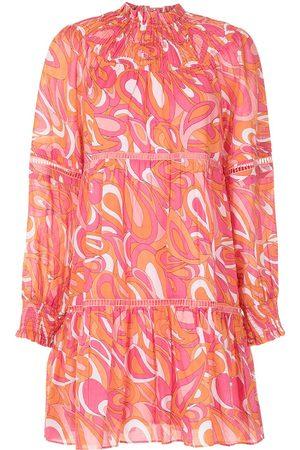 Michael Kors Women Party Dresses - Groovy swirl-print mini dress