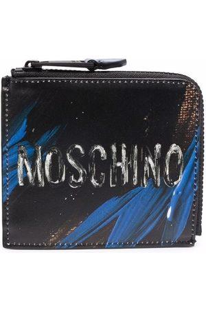 Moschino Men Wallets - Logo-print leather wallet