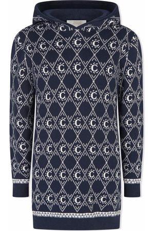 Chloé Girls Knitted Dresses - C-jacquard knitted dress