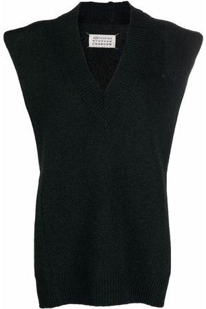 Maison Margiela Women Scarves - Side-slit wool scarf