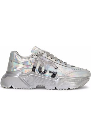 Dolce & Gabbana Holographic-effect lace-up sneakers - Grey