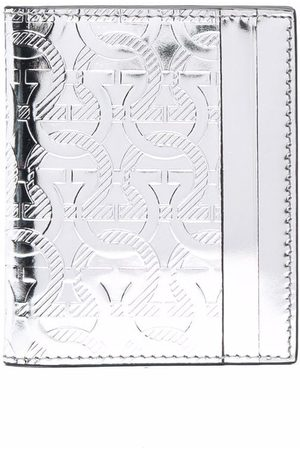 Salvatore Ferragamo Men Wallets - Metallic-monogram leather cardholder