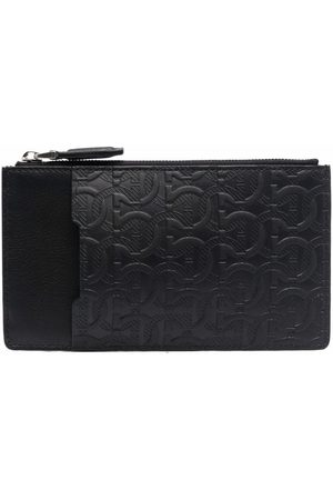 Salvatore Ferragamo Men Wallets - Embossed-monogram leather wallet