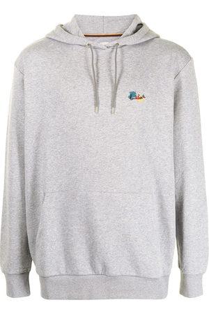 PAUL SMITH Men Hoodies - Abstract-print cotton-blend hoodie - Grey