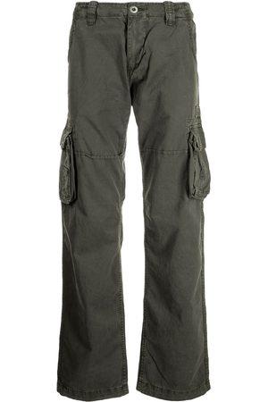 Alpha Industries Men Cargo Pants - Straight-leg cargo trousers - Grey