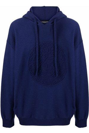 Versace Medusa motif drawstring hoodie