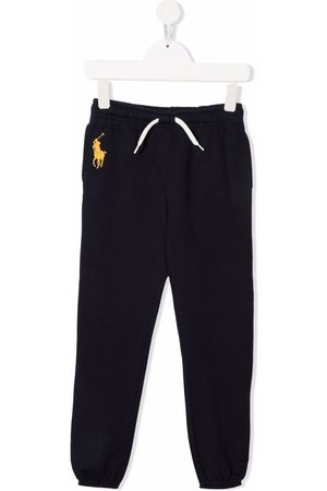 Ralph Lauren Girls Sweatpants - Embroidered polo Pony track pants