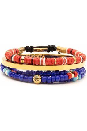 Nialaya Jewelry Men Bracelets - Capri bracelet stack - Multicolour