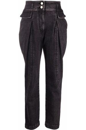 Alberta Ferretti Women High Waisted - High rise tapered jeans
