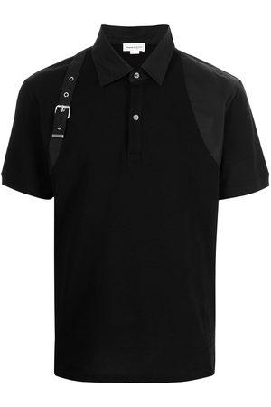 Alexander McQueen Men Polo Shirts - Buckle-detail polo shirt