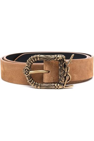 Saint Laurent Men Belts - Suede buckle belt