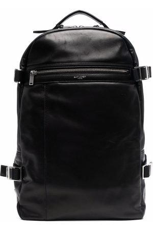 Saint Laurent Men Rucksacks - Logo-print polished-finish backpack