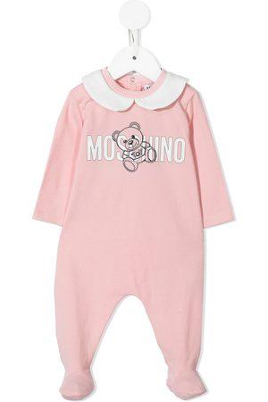 Moschino Kids Pajamas - Logo-print cotton pyjamas