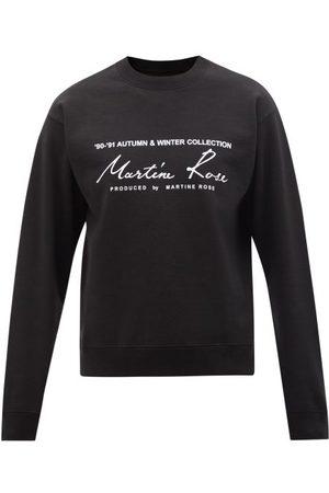 Martine Rose Logo-print Cotton-jersey Sweatshirt - Mens