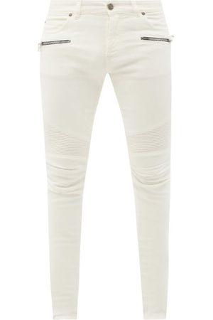 Balmain Men Slim - Slim-leg Biker Jeans - Mens