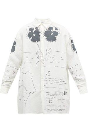 Loewe Men Shirts - Joe Brainard-print Cotton-poplin Shirt - Mens