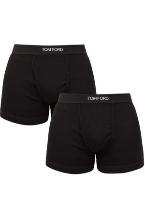 Tom Ford Men Boxer Shorts - Pack Of Two Cotton-blend Boxer Briefs - Mens