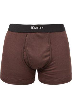 Tom Ford Men Boxer Shorts - Logo-jacquard Cotton-blend Boxer Briefs - Mens