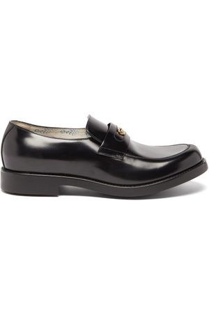 Gucci Men Loafers - Adene Gg Leather Loafers - Mens
