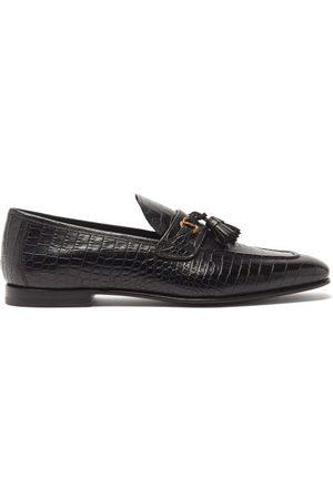 Tom Ford Men Loafers - Alligator-embossed Leather Loafers - Mens