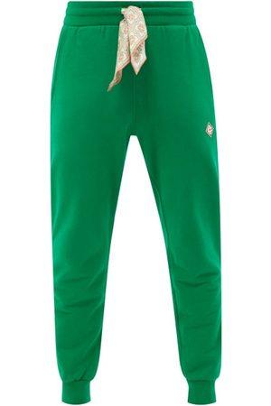 Casablanca Men Sweatpants - Scarf-drawstring Organic Cotton-jersey Track Pants - Mens