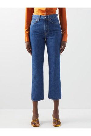 Acne Studios Women High Waisted - Mece High-rise Cropped Straight-leg Jeans - Womens - Denim