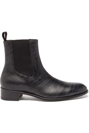 Tom Ford Men Chelsea Boots - Tejus Lizard-effect Leather Chelsea Boots - Mens