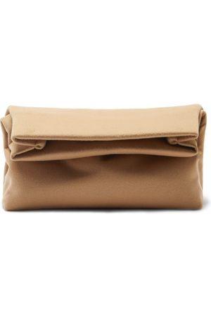 Gabriela Hearst Phoebe Foldover Cashmere Clutch Bag - Womens - Camel