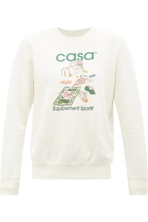 Casablanca Logo-print Organic Cotton-jersey Sweatshirt - Mens