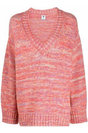 M Missoni Women Sweaters - V-neck striped chunky jumper
