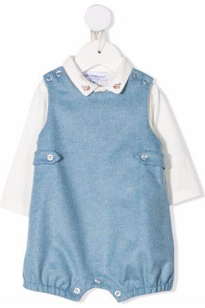 Emporio Armani Baby Rompers - Embroidered-collar romper