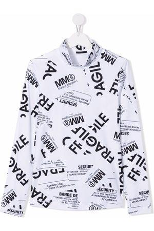 MM6 KIDS Tops - TEEN Fragile-print jersey top